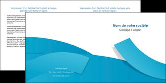 cree depliant 2 volets  4 pages  bleu bleu pastel fond bleu pastel MIF57207