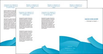 maquette en ligne a personnaliser depliant 4 volets  8 pages  bleu bleu pastel fond bleu pastel MIF57225