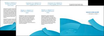 modele en ligne depliant 4 volets  8 pages  bleu bleu pastel fond bleu pastel MIF57227