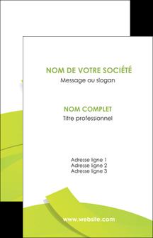 Impression carte de visite vernis selectif Espaces verts devis d'imprimeur publicitaire professionnel Carte de visite - Portrait