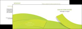 maquette en ligne a personnaliser depliant 2 volets  4 pages  espaces verts vert vert pastel colore MLGI57245
