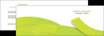 modele en ligne depliant 2 volets  4 pages  espaces verts vert vert pastel colore MLGI57247