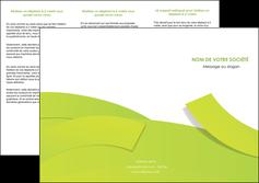 creer modele en ligne depliant 3 volets  6 pages  espaces verts vert vert pastel colore MLGI57255