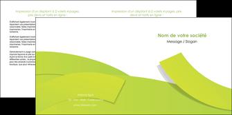 creer modele en ligne depliant 2 volets  4 pages  espaces verts vert vert pastel colore MLGI57259