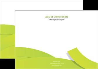 modele flyers espaces verts vert vert pastel colore MIF57263