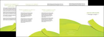 modele en ligne depliant 4 volets  8 pages  espaces verts vert vert pastel colore MLGI57273