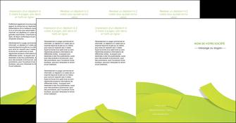 imprimerie depliant 4 volets  8 pages  espaces verts vert vert pastel colore MLGI57277