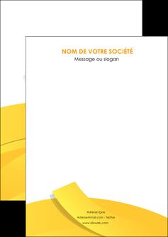 personnaliser modele de flyers jaune fond colore fond jaune MLIG57337