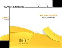 realiser carte de visite jaune fond colore fond jaune MLIG57343
