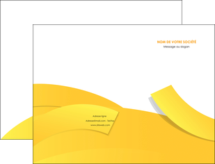 cree pochette a rabat jaune fond colore fond jaune MIF57345