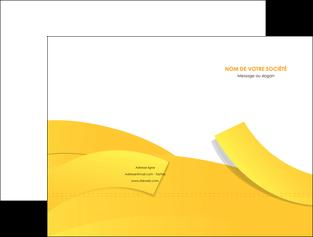 creation graphique en ligne pochette a rabat jaune fond colore fond jaune MLIG57347