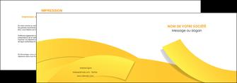 impression depliant 2 volets  4 pages  jaune fond colore fond jaune MIF57351