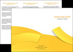 faire modele a imprimer depliant 3 volets  6 pages  jaune fond colore fond jaune MLIG57359