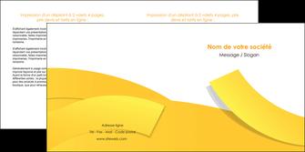 faire depliant 2 volets  4 pages  jaune fond colore fond jaune MIF57363