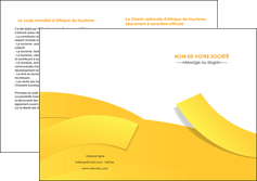 faire modele a imprimer depliant 2 volets  4 pages  jaune fond colore fond jaune MLIG57373