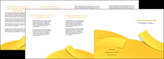 realiser depliant 4 volets  8 pages  jaune fond colore fond jaune MIF57377
