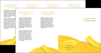 imprimerie depliant 4 volets  8 pages  jaune fond colore fond jaune MIF57381