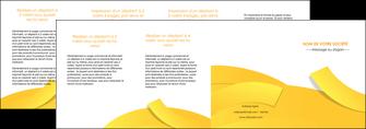 exemple depliant 4 volets  8 pages  jaune fond colore fond jaune MIF57383