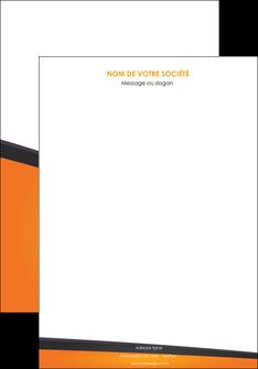 maquette en ligne a personnaliser affiche orange fond orange colore MIF57625
