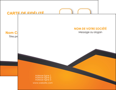 exemple carte de visite orange fond orange colore MLIG57629