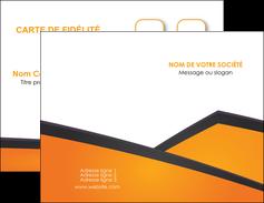 exemple carte de visite orange fond orange colore MLGI57629