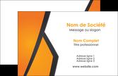 cree carte de visite orange fond orange colore MLGI57631