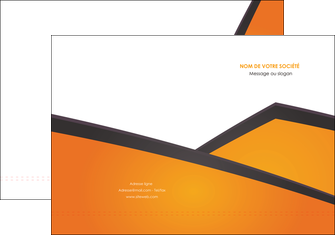 maquette en ligne a personnaliser pochette a rabat orange fond orange colore MIF57633