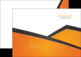 maquette en ligne a personnaliser pochette a rabat orange fond orange colore MLGI57633