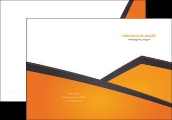 creation graphique en ligne pochette a rabat orange fond orange colore MLGI57635