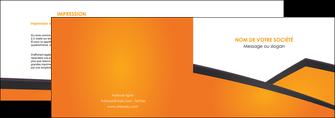 creer modele en ligne depliant 2 volets  4 pages  orange fond orange colore MLGI57637