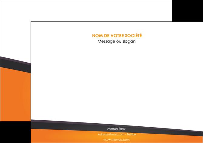 personnaliser modele de affiche orange fond orange colore MLGI57645