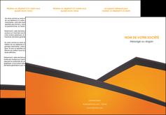 realiser depliant 3 volets  6 pages  orange fond orange colore MLGI57647