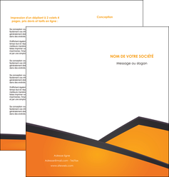 imprimer depliant 2 volets  4 pages  orange fond orange colore MLGI57649