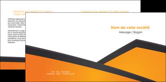 modele depliant 2 volets  4 pages  orange fond orange colore MLGI57651