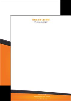 personnaliser maquette tete de lettre orange fond orange colore MIF57653