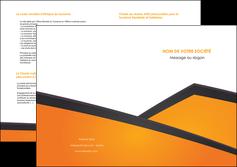 modele en ligne depliant 2 volets  4 pages  orange fond orange colore MLGI57661