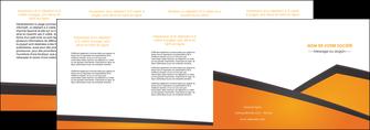 imprimerie depliant 4 volets  8 pages  orange fond orange colore MLGI57663