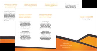 realiser depliant 4 volets  8 pages  orange fond orange colore MLGI57667