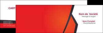 imprimerie carte de visite orange rouge orange colore MIF57741