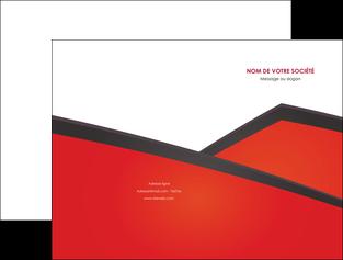 maquette en ligne a personnaliser pochette a rabat orange rouge orange colore MIF57747