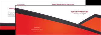 personnaliser maquette depliant 2 volets  4 pages  orange rouge orange colore MIF57749