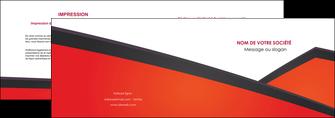 modele en ligne depliant 2 volets  4 pages  orange rouge orange colore MIF57751