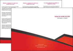 realiser depliant 3 volets  6 pages  orange rouge orange colore MLIG57759
