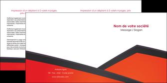 modele depliant 2 volets  4 pages  orange rouge orange colore MIF57763