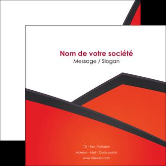 personnaliser modele de flyers orange rouge orange colore MIF57765