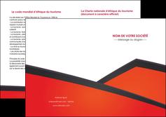 personnaliser modele de depliant 2 volets  4 pages  orange rouge orange colore MIF57773