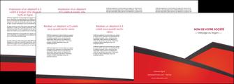 faire depliant 4 volets  8 pages  orange rouge orange colore MIF57777