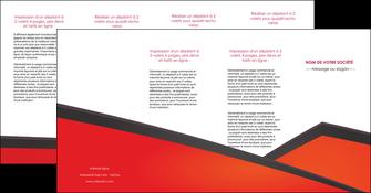 creation graphique en ligne depliant 4 volets  8 pages  orange rouge orange colore MIF57781