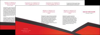 imprimerie depliant 4 volets  8 pages  orange rouge orange colore MIF57783