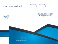 cree carte de visite bleu fond bleu couleurs froides MLIG57855